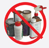 No paint, chemicals cleaners, solvents, other toxic chemicals