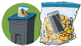 Household Batteries & Old Cell Phone Recycling
